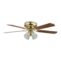 """Concord Fans - Concord Fans Montego Bay Deluxe 52"""" Transitional Flushmount Ceiling Fan X-BB5DBM - Concord Fans Montego Bay Deluxe 52"""" Transitional Flushmount Ceiling Fan X-BB5DBM25"""