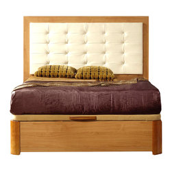 ESF Furniture - Alicante 515 Modern Bed w/Storage by Dupen, Full Size Bed - The Contemporary Bed by Dupen offers another fine, European and modern style. This set is available in two colors: Light cherry wood and wenge color. Bed offers contemporary design, stylish look and comfort. The lift top storage bed provides an additional storing space for your bedroom things. This bed will look adorable in your room. Dupen Spain