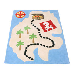 Babyface - Pirate Rug - •Hand tufted from luxurious 100% wool