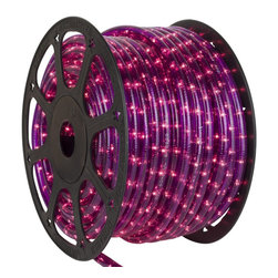 Seasonal Source - 1/2 inch 150 ft LED Purple Rope Light - LED Rope Lighting is some of the most versatile lighting. It can be wrapped around and bent into almost any shape or object.