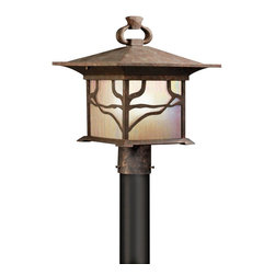 Kichler - Kichler Morris Outdoor Post/Pier in Copper - Shown in picture: Outdoor Post Mt 1Lt in Distressed Copper