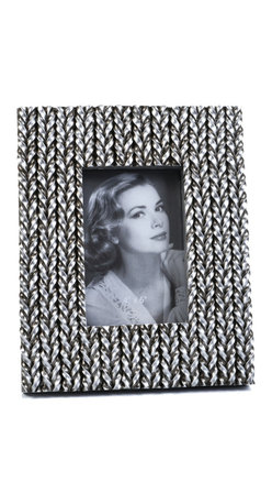 """Concepts Life - Concepts Life Photo Frame  Woven History  4x6"""" - Add a touch of glamour with our unique silver Woven History frame. Wrapped in textured silver braids, your photos will instantly appear refined.  Modern home accent Contemporary silver picture frame Beautiful and elegant home accent Rectangular photo frame Made of polyresin Textured finish Easel back for horizontal or vertical display Various sizes available Holds 4 x 6 in. size photo Dimensions: 8""""w x 10""""h x 1""""d Weight: 1.5 lbs"""