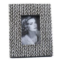 "Concepts Life - Concepts Life Photo Frame  Woven History  4x6"" - Add a touch of glamour with our unique silver Woven History frame. Wrapped in textured silver braids, your photos will instantly appear refined.  Modern home accent Contemporary silver picture frame Beautiful and elegant home accent Rectangular photo frame Made of polyresin Textured finish Easel back for horizontal or vertical display Various sizes available Holds 4 x 6 in. size photo Dimensions: 8""w x 10""h x 1""d Weight: 1.5 lbs"