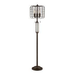 Lamps Plus Contemporary Industrial Cage Edison Bulb Rust