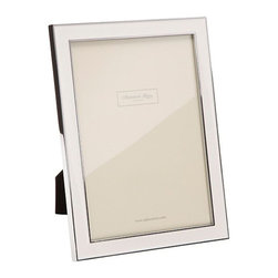 Addison Ross - Addison Ross White Enamel Picture Frames, 4x6 - Simply one of our best selling designs and originally designed for one of the Use's best known accessory brands. This frame is finished with a Black flocked back and can stand both in Portrait and Landscape format.