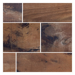 "Coem - Coem Old Wood - 9""x36"" Porcelain Tile, Cherry Brown, 1 Square Foot - Sold by the square foot"