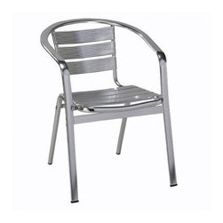 Regal Rochester Metal Frame Patio Chair - This patio chair features a lightweight aluminum construction and a sleek modern design. The perfect accent piece for your own outdoor retreat; this patio chair is sure to add style to your outdoor space.