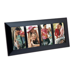 """Philip Whitney - 4 Photo Black Wood Frame With Divider, 4""""x6"""" - Achieve a simple, clean look in your home using this Black Wood Frame With Divider. Featuring plain black wood with wood photo dividers, this versatile frame can accommodate four different 4-by-6 inch photos. Sleek and unadorned, this frame works well with both bold and neutral color schemes."""