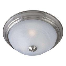 Maxim Lighting - Maxim Lighting 1940MRSN Outdoor Essentials - 194x Outdoor Ceiling Mount Light - Maxim Lighting 1940MRSN Outdoor Essentials - 194x Transitional Outdoor Ceiling Mount Light In Satin Nickel