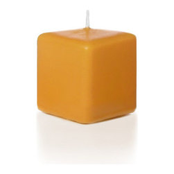 "Neo-Image Candlelight Ltd - Set of 12 - Yummi 2.25"" x 2"" Harvest Gold Square Pillar Candles - Our unscented 2.25""x2"" Square Pillar Candles are ideal when creating a beautiful candlelight arrangement for the home or wedding decor.  Available in 44 trendy candle colors hand over dipped with white core to match and compliment your home decor or wedding centerpiece decoration."