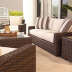 Lloyd Flanders Contempo Collection Sofa, Lounge and Accent Tables - Lloyd Flanders Contempo Collection seating: a modern, contemporary flair to your patio.