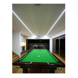 Flexfire LEDs / UltraBright Architectural Series Bright White - Flexfire LEDs Task Lighting - Game Room - UltraBright™ LED strip lighting from Flexfire LEDs illuminating this game room. Very easy install and 100% dimmable. Uses 5.12 watts per foot.