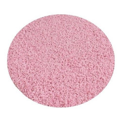 """Koeckritz - Round 6' Indoor Area Rug - Princess Pink 37Oz - These beautiful TWISTED SHAG FRIEZE - Made of a Polyester Filament Fiber and has a Face Weight of 37oz - Pile Height of 1""""+   Available in an array of various sizes to enhance your home.  The edge of these rugs are finished off with a matching soft nylon fabric tape that is sewn to the edge of the rug for a very clean finish.  Unsurpassed in quality and style without sacrificing affordability.  In addition to their beauty and durability, Koeckritz area rugs are made from superior materials and the right colors to express your personal style.  This rug is perfect for those that love vibrant colors.  Koeckritz area rugs are the premium choice when it comes to color and value as they provide unique interpretations for traditional and modern interiors.  Decorate the office, den, living room, dining room, kitchen or bedroom.  This rug will accent and add life to any room.  Dress up your floor with a luxurious rug from Koeckritz.  An extraordinarily thick construction ensures a superlative texture and years of lasting beauty. Permashield advanced stain protection allows the removal of most household stains.  Easy to clean.  Padding is recommended for all area rugs and carpet as it will prolong the rugs life. **Please Note that size and color representation are subject to manufacturing variance and may not be exact. Also note that monitor settings may vary from computer to computer and may distort actual colors. Photos are as accurate as possible; however, colors may vary slightly in person due to flash photography and differences in monitor settings. Each rug/carpet is manufactured with the same colors as pictured; however they can be manufactured from slightly different """"die lots"""". Meaning when the yarn is dyed it can vary in shade ever so slightly."""