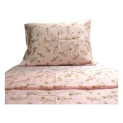 Cathgro - Pink Ballerinas Twin Sheet Set Dancing Bedding - FEATURES: