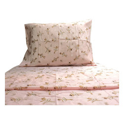 Cathgro - Pink Ballerinas Twin Sheet Set Dancing Bedding - FEATURES: