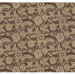 Ralph Lauren Fabrics - The fabric Sonoran Linen Floral in Saddle is 100% linen and made in the USA.