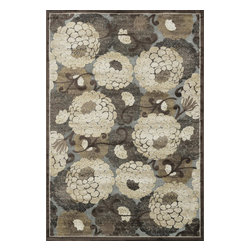 Loloi Rugs - Loloi Rugs Halton Collection Rug, Gray/Beige - The colors are vivid and the transitional designs are appealing, but what really stands out in Halton is the details. Take a closer look (or zoom in) and you'll notice Halton was expertly designed with subtle shadings and intricate patterns to give it the appearance of a hand-crafted rug. Power loomed in Turkey, the viscose surface is raised against a chenille base, giving Halton an element of dimension and texture that adds character and enhances perceived value. Also, the viscose surface has an irresistible shimmer, which further adds to its sophisticated appearance.