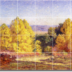 Picture-Tiles, LLC - The Poplars Tile Mural By Theodore Steele - * MURAL SIZE: 32x48 inch tile mural using (24) 8x8 ceramic tiles-satin finish.