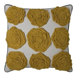 DwellStudio® for Target® Yellow Rosettes Pillow - Yellow rosettes decorative throw pillow.