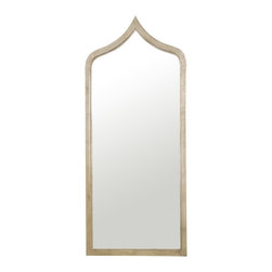 "Worlds Away - Worlds Away Adina Silver Leafed Extra Long Mirror - With a hint of Moroccan influence, the Worlds Away Adina mirror exudes global flair. The extra-long accessory's sleek frame tapers at the top, glistening in a captivating silver finish. 24""W x 1""D x 55""H; Silver leaf finish; Iron edged; Sawtooth hanger"