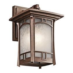 Kichler 1-Light Outdoor Fixture - Aged Bronze Exterior - One Light Outdoor Fixture