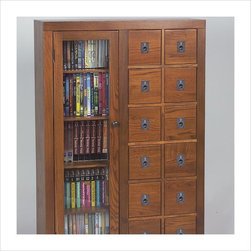 Leslie Dame - Leslie Dame Library Media Storage Unit-Espresso - Leslie Dame - CD & DVD Media ...