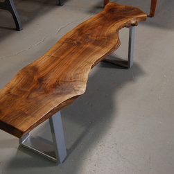 Black Walnut Bench - this is a wonderful Black Walnut,  live edge,  table or could be a bench.