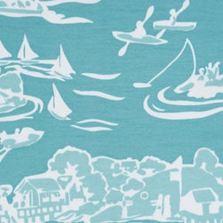 Serena & Lily - Skylake Toile Outdoor Fabric Aqua - Our take on classic toile, twisted a few degrees for that fun factor we love. We left the countryside to go lakeside, went bold with scale, and chose a beautiful turquoise and white palette along the way. The result? A look that&Iacute s fresh and familiar, all at the same time. Printed on our fabulous all-weather fabric, this pillow withstands the elements with style.