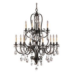 Feiss - Salon Ma Mason Aged Tortoise Shell Twelve-Light Chandelier - Salon Ma Mason Aged Tortoise Shell Twelve-Light Chandelier Feiss - F2229-8-4ATS