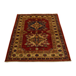 1800-Get-A-Rug - Hand Knotted Rug Fine Kazak Tribal Design Sh12972 - About Tribal & Geometric