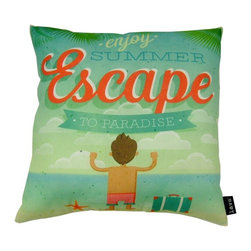 Lava - Escape 18 x 18 Pillow (Indoor/Outdoor) - 100% polyester cover and fill.  Suitable for use indoors or out.  Made in USA.  Spot Clean only
