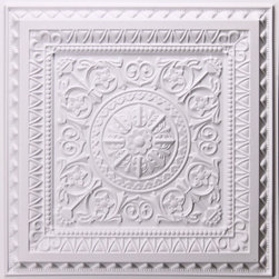 CT-223 Ceiling Tile - White-Sample - Made from UV stabilized .35 mm vinyl thermoplastic.These tiles may be used in a grid system. These tiles are easy to install, easy to clean, stain and water resistant, resource friendly and delivered direct to your door! Please note that there is no minimum order on our in stock ceiling skins, so you may order single tiles if you want to see what they look like before placing a larger order.