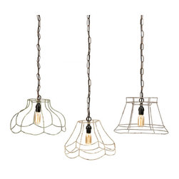 Down to the Wire Pendants - In this case, you can leave your lighting choices down to the wire. These clever, industrial styled pendants will make sure you always see the first light of the day.