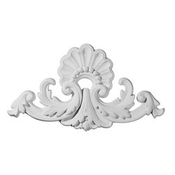 """Ekena Millwork - 11 3/4""""W x 11 3/4""""H Salerno with Shells Center Onlay - 11 3/4""""W x 11 3/4""""H Salerno with Shells Center Onlay. Our appliques and onlays are the perfect accent pieces to cabinetry, furniture, fireplace mantels, ceilings, and more. Each pattern is carefully crafted after traditional and historical designs. Each polyurethane piece is easily installed, just like wood pieces, with simple glues and finish nails. Another benefit of polyurethane is it will not rot or crack, and is impervious to insect manifestations. It comes to you factory primed and ready for your paint, faux finish, gel stain, marbleizing and more."""