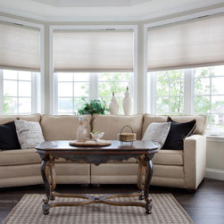 Transitional cellular shades find honeycomb blinds online for Lutron motorized blinds cost