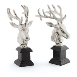 Go Home - Go Home Pair of Hunt Bookends - Whether its your library, study or office space, it says a lot about personality and lifestyle. So give your interiors a coolant clutter-free look with the elegant Pair of Hunt Bookends. It features nicely executed details that offer your space an out-of-the-ordinary look with an unique charm and grace.