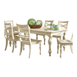 Riverside Furniture - Riverside Furniture Placid Cove Rectangular Dining Table in Honeysuckle White - Riverside Furniture - Dining Tables - 16750 - Riverside's products are designed and constructed for use in the home and are generally not intended for rental, commercial, institutional or other applications not considered to be household usage.