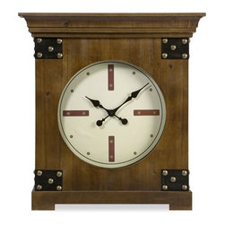 IMAX CORPORATION - CKI Freston Clock - With a honey-toned finish and nail head accents, the Freston clock has a southwest inspiration yet is equally at home in a variety of interiors. Find home furnishings, decor, and accessories from Posh Urban Furnishings. Beautiful, stylish furniture and decor that will brighten your home instantly. Shop modern, traditional, vintage, and world designs.