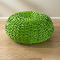 Tuffet Seater, Green - Ms. Muffet sat on a tuffet — this is the perfect kid-friendly seat. It can work indoors or out, and it comes in a few colors. Imagine playing Duck-Duck-Goose on these!
