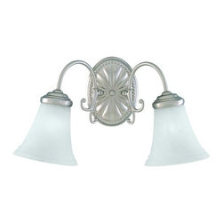 """Savoy House - Savoy House KP-8-510-2 2 Light 18"""" Wide Bathroom Fixture from the Liberty Collec - Two light bathroom fixtureFeaturing marble glassRequires two 60w medium base lamps"""