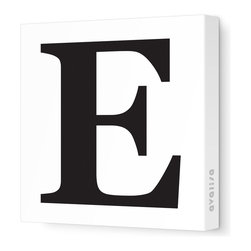 "Avalisa - Letter - Upper Case 'E' Stretched Wall Art, 18"" x 18"", Black - Spell it out loud. These uppercase letters on stretched canvas would look wonderful in a nursery touting your little one's name, but don't stop there; they could work most anywhere in the home you'd like to add some playful text to the walls. Mix and match colors for a truly fun feel or stick to one color for a more uniform look."