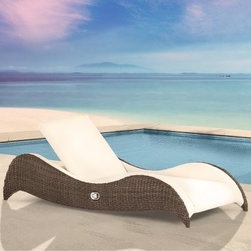 Domus Ventures Luxor Sunlounger Chaise Lounge - There's no better way to recharge your solar battery than by spending a little bit of rest and relaxation time on a Domus Ventures Luxor Sunlounger Chaise Lounge. This lounger reclines a full 180 degrees, making it ideal for catching some rays and maybe even a bit of shut eye. And when you're feeling a bit more alert, the seatback easily raises with a side lever, allowing you to sit up to sip a drink and enjoy a book or magazine. The soft cushioning and synthetic leather upholstery provide a luxurious surface that will easily give beneath you while providing supportive padding. The rich Bark-colored wicker on the undulating supportive side frame pairs exquisitely with the Marina Creme upholstery to create a breezy resort feel that works well with any outdoor decorating style.This collection is constructed with lightweight aluminum frames that are wrapped in hand-woven synthetic wicker, for outdoor use in any climate. This unique fiber is not just outstandingly weatherproof, safeguarding against fading, cracking, splitting, and molding - it is also dirt resistant, making it easy to clean and maintenance free. The high-density polyethylene composition is also environmentally friendly and 100 percent recyclable. Likewise, the upholstery uses MarinaPLUS outdoor synthetic leather. Commonly used on yachts because of the harsh weather conditions out on the open sea, this synthetic material assures the highest level of dimensional stability and stretch resistance for lasting comfort and luxury. Lastly, the high quality of care that goes into this superior construction means that these pieces will last for years to come, which is good for the environment and good for your wallet.About Domus Venutures Pte. Ltd.Established in 1997, Domus Ventures is a German-owned manufacturer that has grown into a dominant global player in the furniture industry. Exporting over 1,600 containers annually, each design and each piece is subjected t