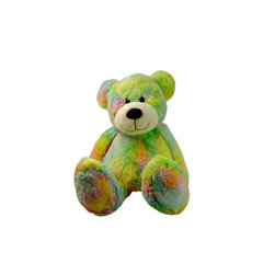 Lava - Rainbow Bean Bag Bear - 100% polyester cover. Polyester and Polystyrene bead fill.