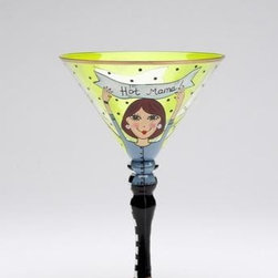 "ATD - 7.25 Inch ""One Hot Mama"" Woman In Blue Shirt Martini Glass - This gorgeous 7.25 Inch ""One Hot Mama"" Woman In Blue Shirt Martini Glass has the finest details and highest quality you will find anywhere! 7.25 Inch ""One Hot Mama"" Woman In Blue Shirt Martini Glass is truly remarkable."