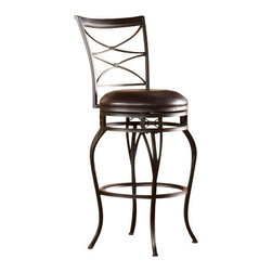 Holly and Martin - Kingsgate Swivel Bar Stool - Enrich your home with stylish convenience. The intricate details, intersected arcs, and curved legs of this bar stool yield a beautiful, timeless appearance.