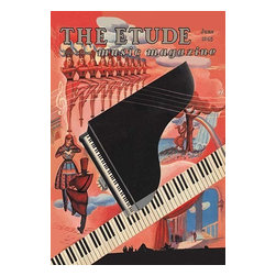 "Buyenlarge.com, Inc. - Etude - Keyboard Fantasy- Fine Art Giclee Print 24"" x 36"" - Another high quality vintage art reproduction by Buyenlarge. One of many rare and wonderful images brought forward in time. I hope they bring you pleasure each and every time you look at them."