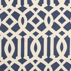 Imperial Trellis  Fabric, Navy