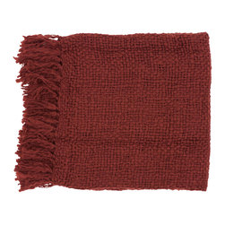 None - Woven Cornell Acrylic and Wool Throw Blanket - Get ready for lots of snuggling this holiday season with this burgundy wool throw blanket. Made from a blend of acrylic and wool,this will provide serious warmth as you sip your morning coffee on the balcony or watch a gorgeous sunset from your porch.