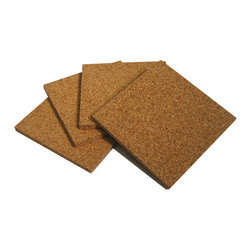 The Felt Store - 3.5 x 3.5 x 0.25 Inch Square Cork Coasters Set Of 4 - Adorn your table with naturally beautiful material! This Cork Coaster Set includes 4 coasters made entirely of fine grained cork. Each square coaster measures 3.5 inches square, and fits any average sized glass or beverage can. These cork coasters are naturally resistant to liquids, and are easy to wipe clean. Make your coffee table, desk or dinner table unique with these coasters.