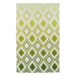 """Kaleen - Kaleen Glam GLA09 (Green) 3'6"""" x 5'6"""" Rug - This Flat Weave rug would make a great addition to any room in the house. The plush feel and durability of this rug will make it a must for your home. Free Shipping - Quick Delivery - Satisfaction Guaranteed"""